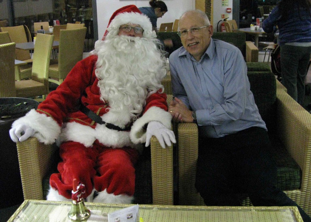 Ross with Santa
