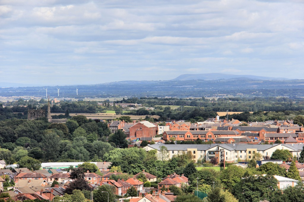 View to Ormskirk and Pendle Hill